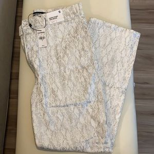 NWT Express Cropped Straight Super High Rise Jeans